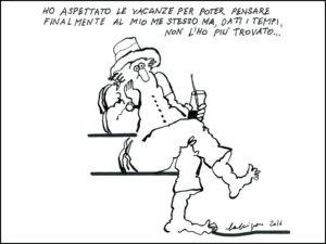 Una vignetta realizzata da Renato Calligaro per la rivista