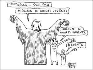 Una vignetta realizzata da Davide Toffolo per la rivista